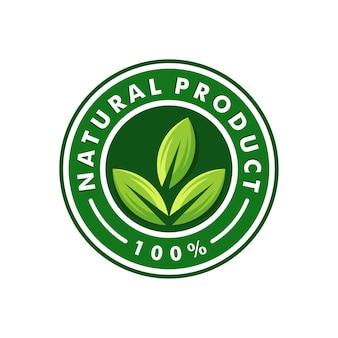 Projektowanie logo produktu naturalnego. zdrowe jedzenie. logotyp naturalnego symbolu