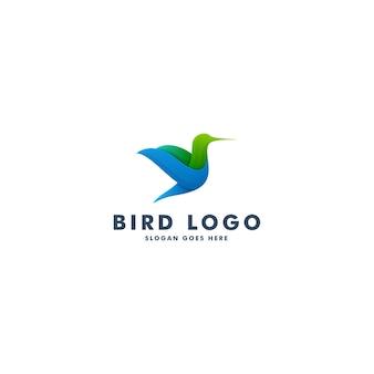 Projektowanie logo ptaka, ilustracja wektorowa symbol zwierzęcia