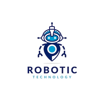 Projektowanie logo robot locator