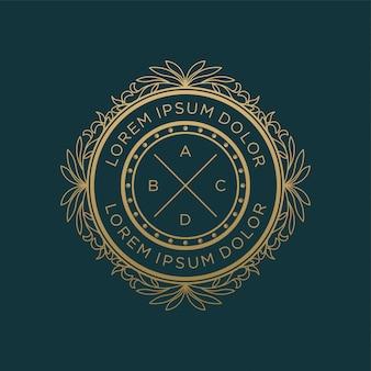 Projektowanie logo rocznika luksusowe monogram