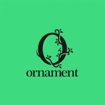 Projektowanie logo roślin litera o projekt butelki wina. ilustracja
