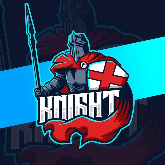 Projektowanie logo rycerz maskotka esport