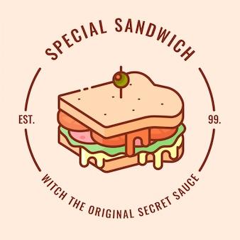Projektowanie logo sandwicha