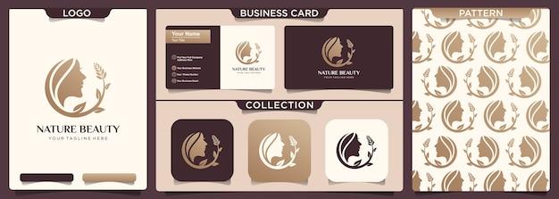 Projektowanie logo spa natura salon fryzjerski kobieta.