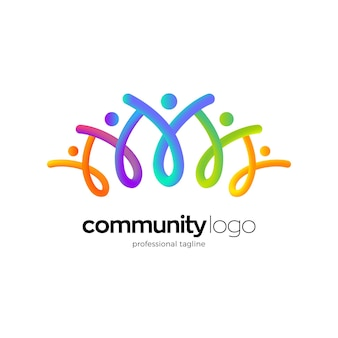 Projektowanie logo społeczności ludzi