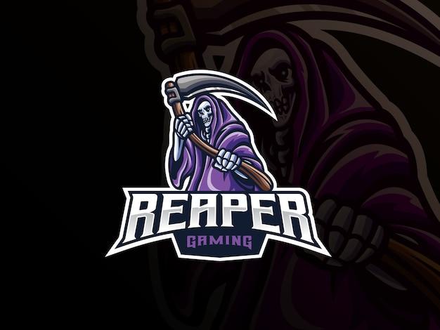 Projektowanie logo sport maskotka grim reaper