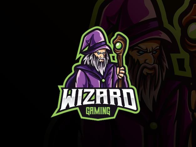 Projektowanie logo sport maskotka wizard