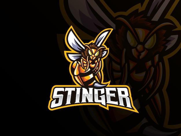 Projektowanie logo sportu maskotka pszczół
