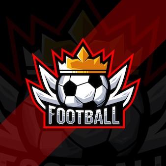 Projektowanie logo sportu piłki nożnej mistrzostwa piłki nożnej