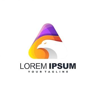 Projektowanie logo streszczenie kolor orła
