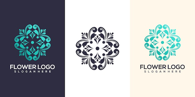 Projektowanie logo streszczenie kwiat