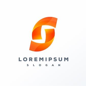 Projektowanie logo streszczenie litery s.