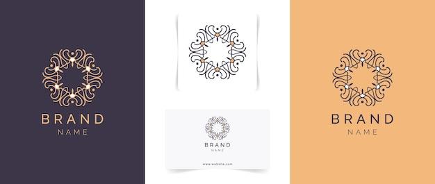 Projektowanie logo streszczenie mandali.