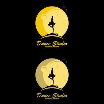 Projektowanie logo studio tańca. wektor logo kształt ciała. koncepcja ikona tańca.