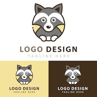 Projektowanie logo szopa pracza
