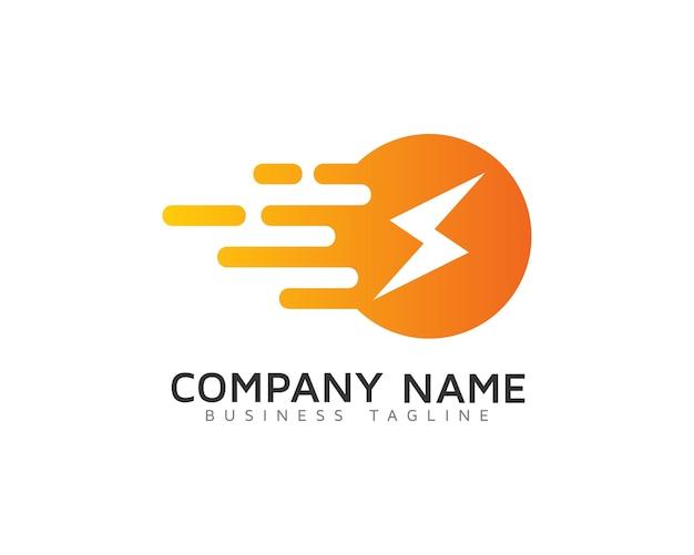 Projektowanie logo szybkiej energii