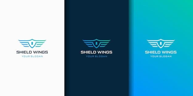 Projektowanie logo tarczy i skrzydła