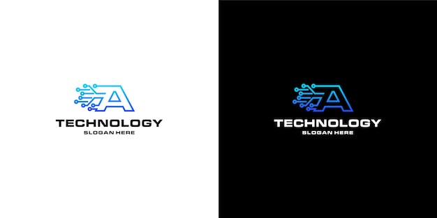 Projektowanie logo technologii nft litery a