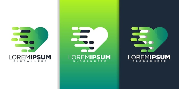 Projektowanie logo technologii serca