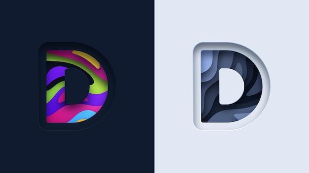 Projektowanie logo typografii litery d.