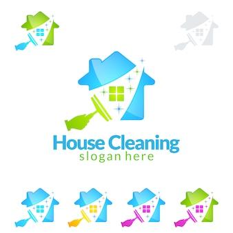 Projektowanie logo usługi czyszczenia