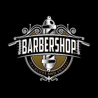 Projektowanie logo vintage barber shop