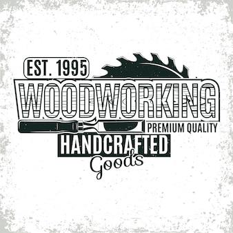 Projektowanie logo vintage do obróbki drewna