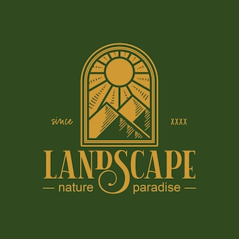 Projektowanie logo vintage krajobraz