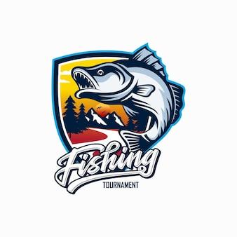 Projektowanie logo vintage połowów