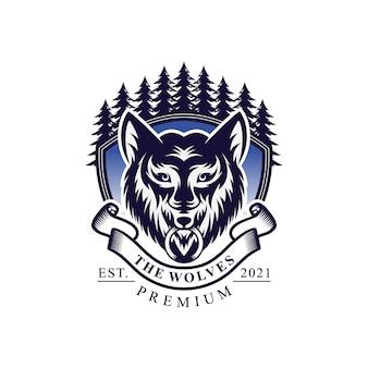 Projektowanie logo vintage wilk