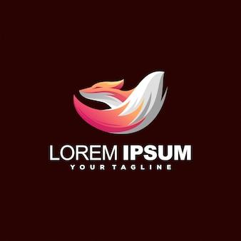 Projektowanie logo w kolorze gradientu lisa