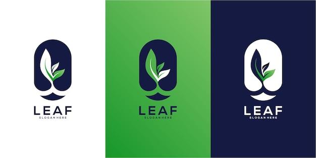 Projektowanie logo wektor liści drzewa