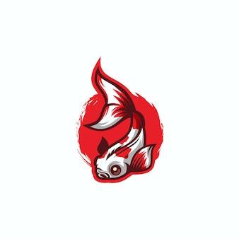 Projektowanie logo wektor ryb japonii