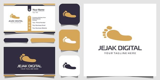 Projektowanie logo wektor ślad.