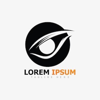 Projektowanie logo wektorowego branding identity corporate eye care