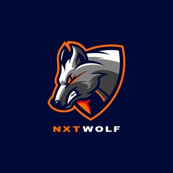 Projektowanie logo wilka dla sportu