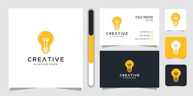 Projektowanie logo żarówki i wizytówki