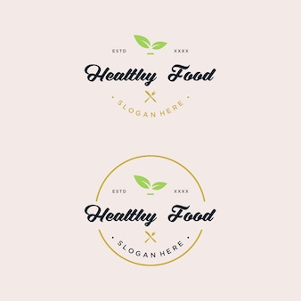 Projektowanie logo zdrowej żywności