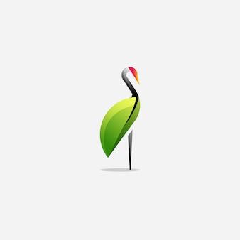 Projektowanie logo żurawia z wektorem