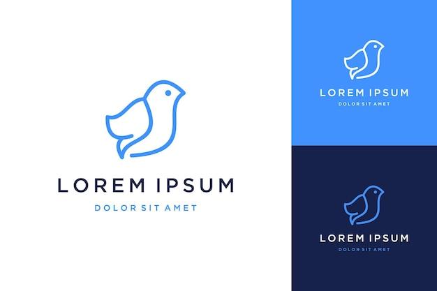 Projektowanie logo zwierząt lub ptaków z grafiką liniową