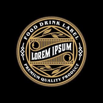 Projektowanie logo żywności i napojów dla produktu i restauracji