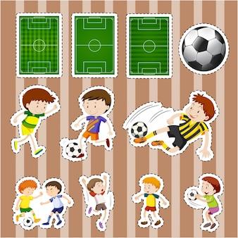 Projektowanie naklejek dla piłkarzy i pól