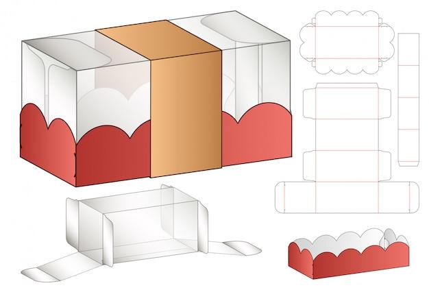 Projektowanie opakowań wycinanych szablonem. 3d