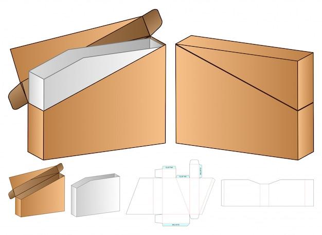 Projektowanie opakowań wycinanych szablonem. makieta 3d