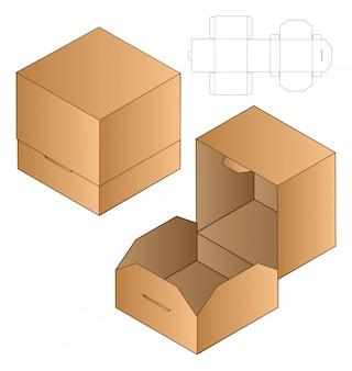 Projektowanie opakowań wycinanych szablonem.
