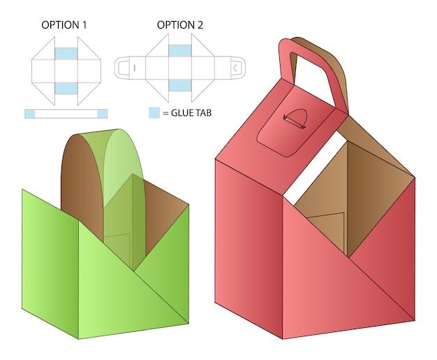 Projektowanie opakowań wycinanych szablonem