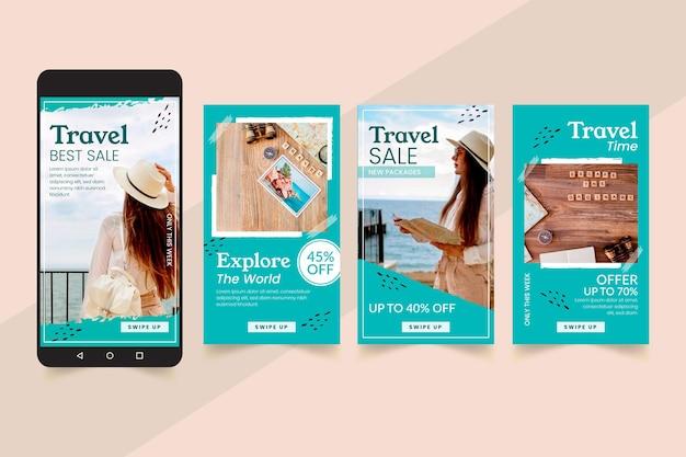 Projektowanie opowiadań na instagramie w sprzedaży podróży