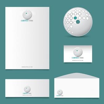 Projektowanie papiernicze business z nowoczesnym logo