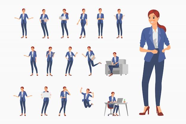 Projektowanie postaci dziewcząt biznesowych. charakter akcji ustawiony w biznesie.