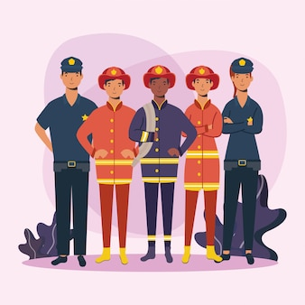 Projektowanie pracowników strażaków i policjantów